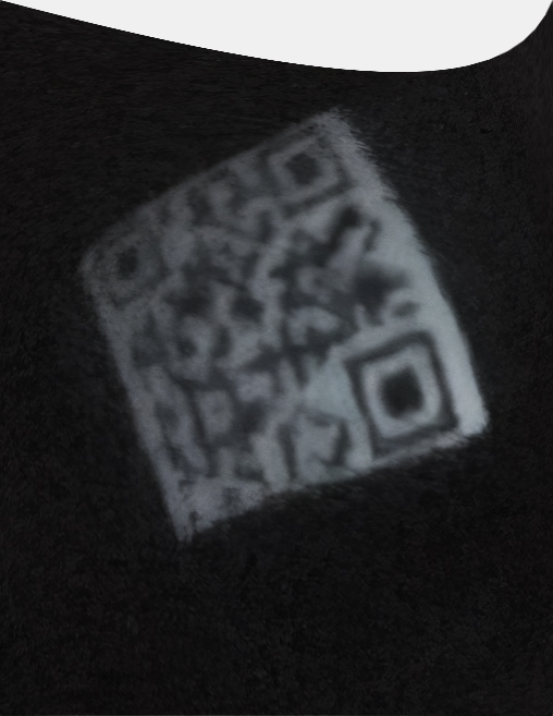 Maximally enhanced image of the QR code
