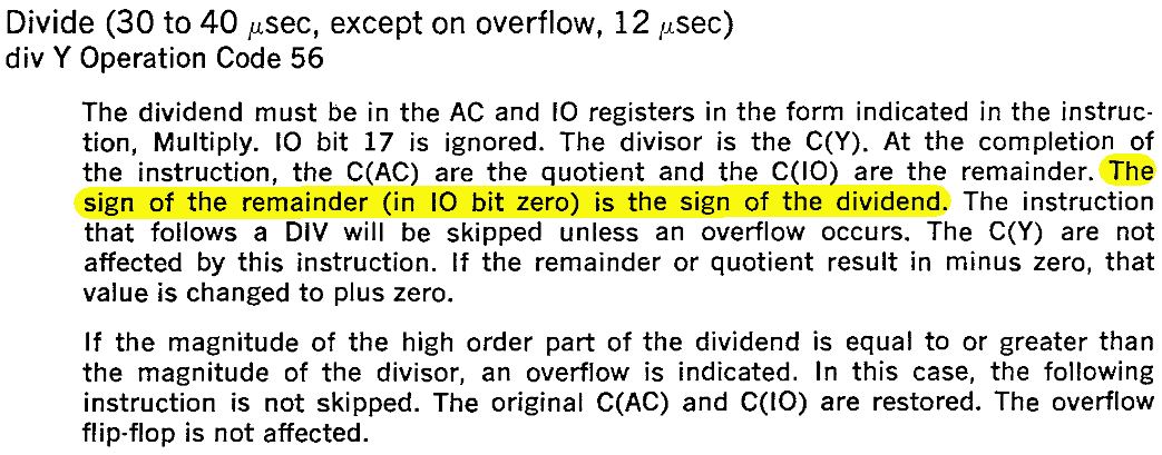 Page 15 of the PDP-1 manual, excerpted below