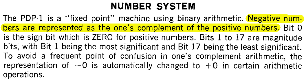Page 7 of the PDP-1 manual, excerpted below
