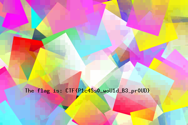 Result of converting flag.ctf back to an image